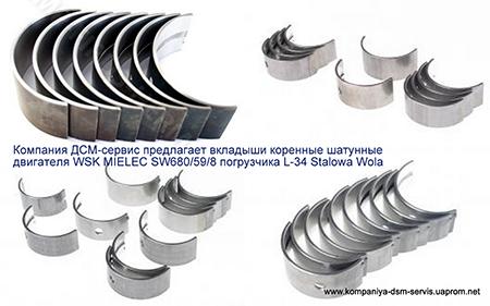 Вкладыши двигателя SW680/59/8 L34
